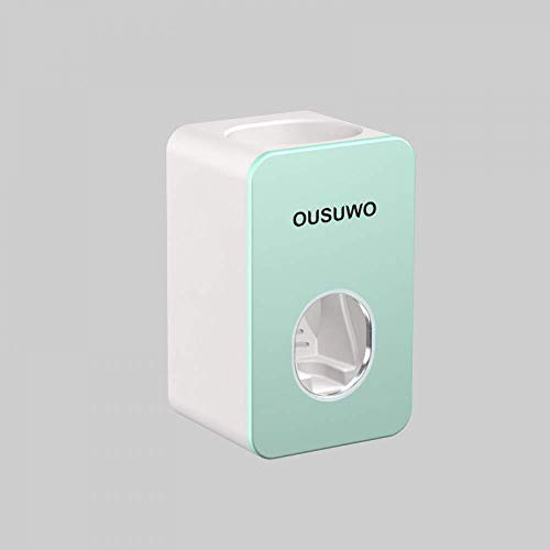 AKUN Automatic Toothpaste Dispenser Dust-Proof Toothbrush Holder Wall Mount Stand Bathroom Accessories Set Toothpaste Squeezers