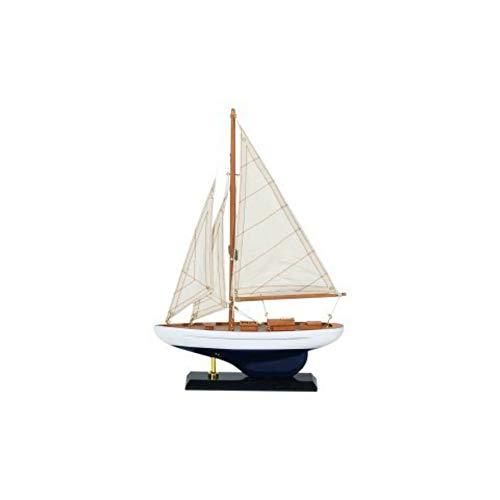 CAPRILO Figura Decorativa de Madera Barco Velero Grande. Adornos y Esculturas. Decoración Marinera. Hogar. Regalos Originales. 37 x 25 x 5 cm.