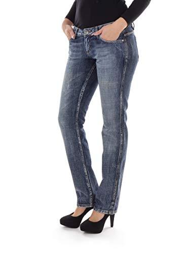 Unbekannt Mogul Jeans Stoffhose Freizeithose blau Acqua Denim 5-Pocket Regular (Inch 29)