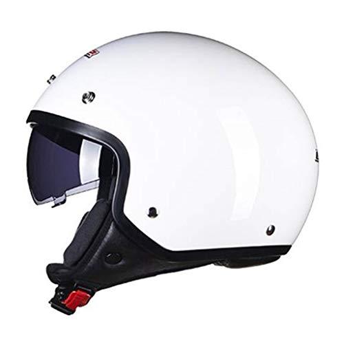 Lsrryd Helm Retro Vintage Pilot Moto-Helm Scooter-Helm Chopper Cruiser Jet-Helm · ECE-gecertificeerd · incl. Zonneklep · incl.