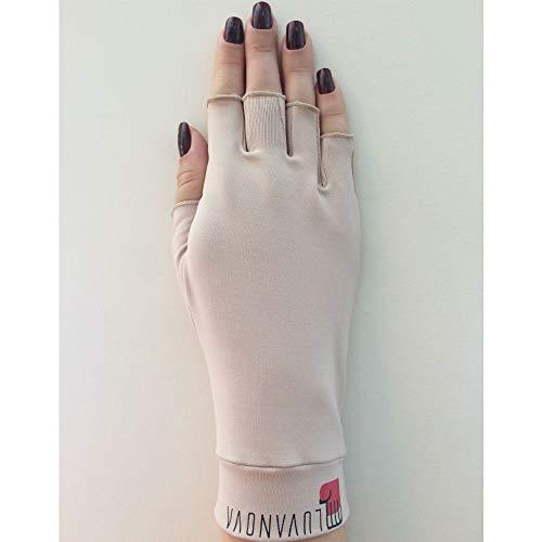 Luva com Proteção Solar FPS 50 e Raios UV Semi dedos Pequena