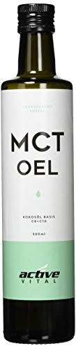MCT-Öl ACTIVEVITAL 500ml Neutral aus Kokos-Öl Bulletproof Coffee Keto Caprylsäure (C-8) und Caprinsäure (C-10) Vegan
