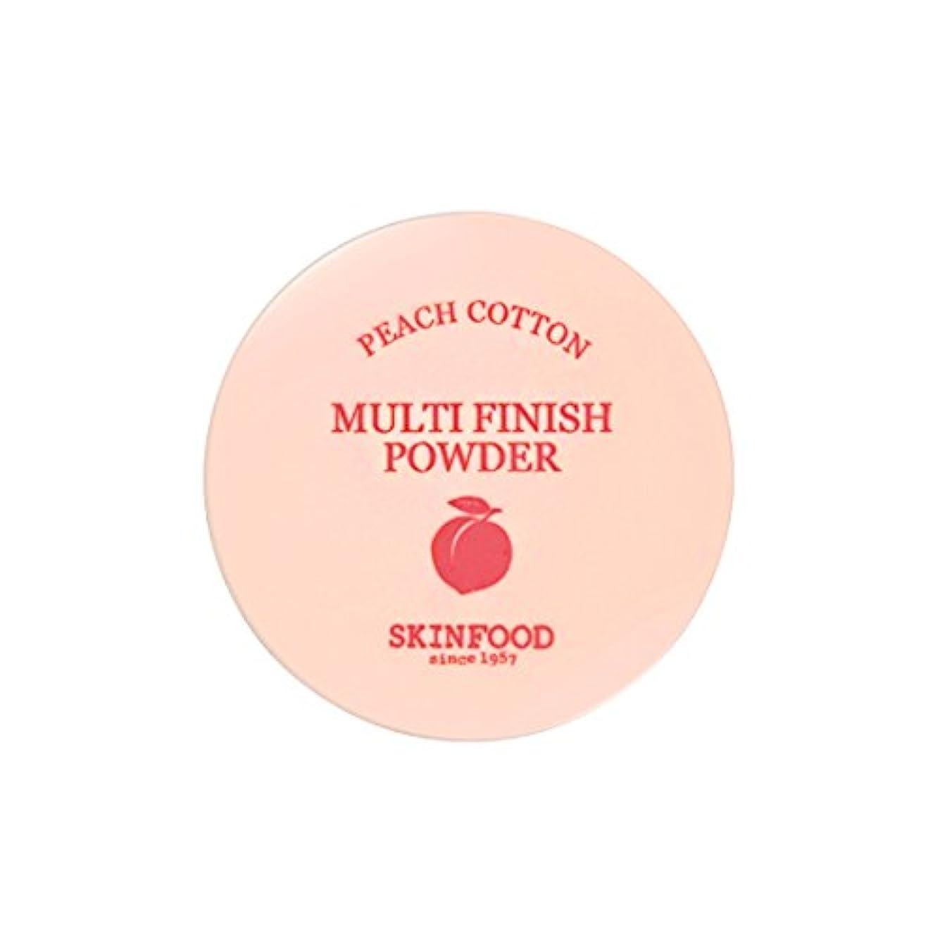 ドキュメンタリー省可塑性[New] SKINFOOD Peach Cotton Multi Finish Powder/スキンフード ピーチ コットン マルチ フィニッシュ パウダー (#小容量:5g) [並行輸入品]