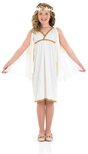 Fun Shack Blanca Diosa Romana Disfraz para Nias - S