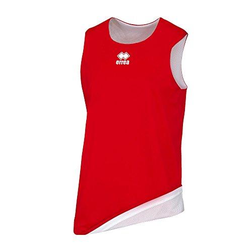 Errea Chicago Double, Camiseta Deportiva Unisex para niños, Unisex niños, Dm0Q1Z, Rosso Bianco, XXS
