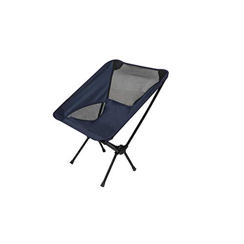 Ultralight Portable Leisure Outdoor Outdoor Folding Chair Beach Camping Fishing Chair (Dark Blue) D-20-10-26