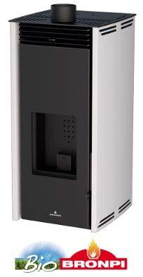 BRONPI Estufa DE Pellet SIN Electricidad Modelo Free 6 KW Crema