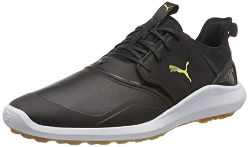 PUMA Herren Ignite Nxt Crafted Golfschuh, Black Black Team Gold, 43.5 EU