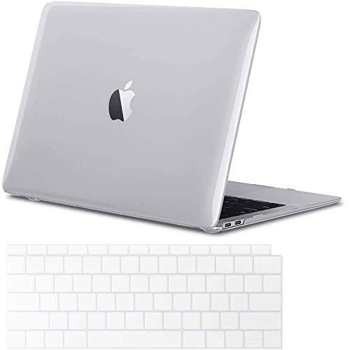 IC ICLOVER Schutzhülle für MacBook Pro 13 Zoll (33 cm), kristallklare Hartschale & Tastatur-Hülle, nur kompatibel mit Apple MacBook Pro A2289/A2251 mit Touch Bar/ID, transparent
