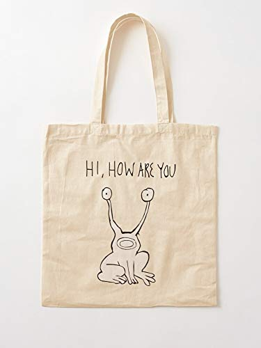 Hi Are Music Johnston Cover Outsider Concert Album You Johnson Alien How Daniel Tote Cotton Very Bag | Bolsas de supermercado de lona Bolsas de mano con asas Bolsas de algodón duraderas