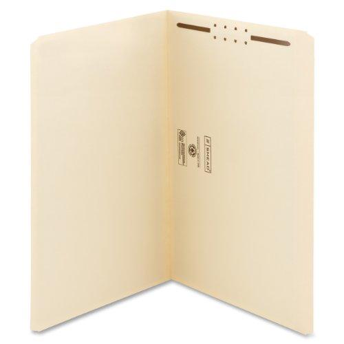 Smead Fastener File Folder, 1 Fastener, Reinforced Straight-Cut Tab, Legal Size, Manila, 50 per Box (19510)