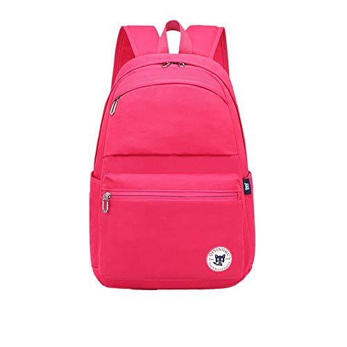 Children's school bag School backpack girl child boy print bag elementary school bag school bag student bag schoolboy backpack teen boy girl school bag ( Color : Rose red , Size : 39cm28cm13cm )