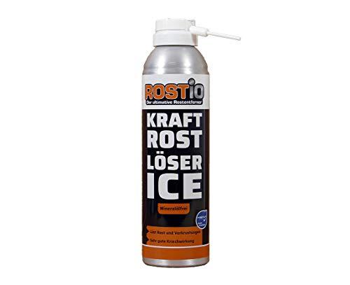 Rostio Kraft Rostlöser Spray Ice | Extrem Kraft Profi Rost-löser EIS für Schrauben | Muttern | Auto | Fahrrad (1 Stück)