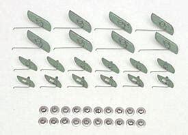 Eckler's 57-135361 Chevy Quarter Panel Molding Clip Set, Stainless Steel, Bel Air,