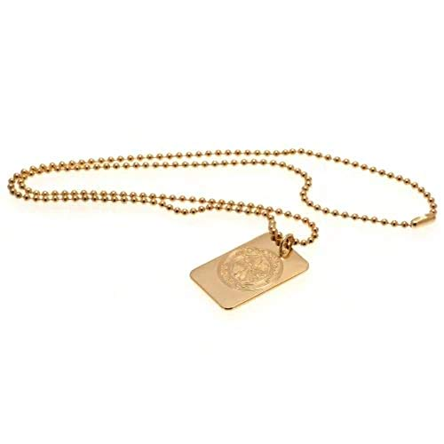 Celtic F.C. Gold Plated Dog Tag & Chain Official Merchandise