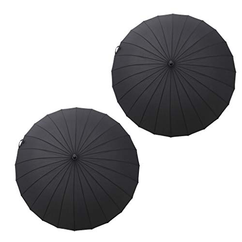 F Fityle 2X Parasol de Lluvia Solar Extra Grande para Hombre, Sombrilla Resistente Al Viento