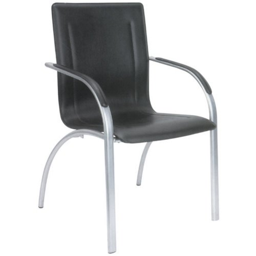 hjh OFFICE Buerostuhl24 668860 Konferenzstuhl/Besucherstuhl Trento 5-er Pack / 5 Stühle, schwarz