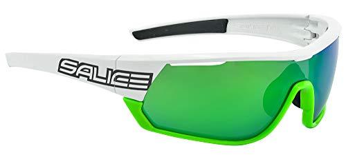 Salice 016CRX - Gafas de Ciclismo, Color Blanco/Verde, Talla única