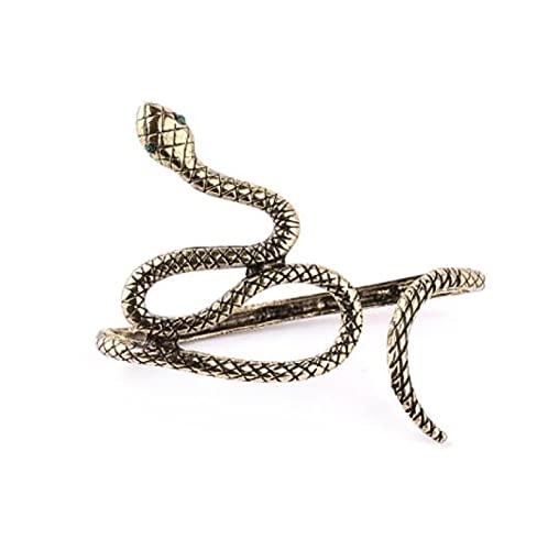 MENGHUA Personalidad de moda retro animal serpiente salvaje pulsera tres colores opcionales señoras pulsera accesorios G1066 bronce