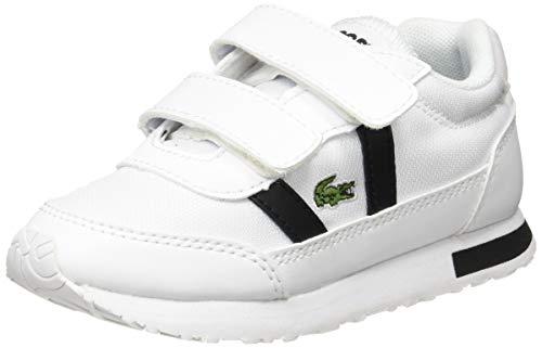 Lacoste Unisex Kinder Partner 0120 1 Sui Sneaker, Wht Blk, 26 EU