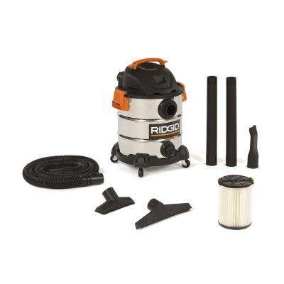 Best Deals! RIDGIDShopvac Stainless Steel 4.5 gal. 5.0-Peak HP Pro Pack Wet Dry Vac