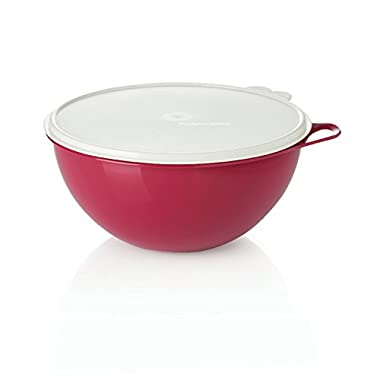 Tupperware Red Thatsa Bowl 32 Cup Mixing Bowl red with white cover