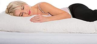 Customsleeping Premium Full Body Pillow - Hypoallergenic CertiPUR Memory Foam with Cluster Gel Fiber, Great Pregnancy Pillow, Stay Cool with Our Bamboo Derived Rayon Cover, Made in USA