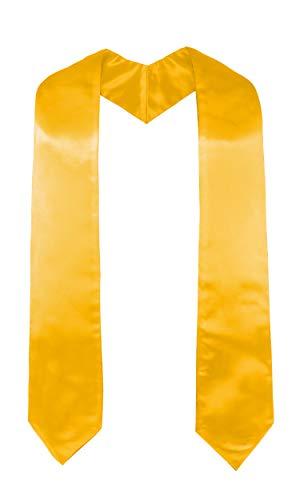 GraduatePro Banda de Graduacin Estola Coro Priest para Unicersidad Maestro Doctoral 152.5cm Largo Oro