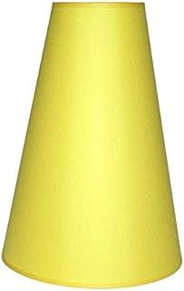 Abażur 250x120x400 mm średnica dolna x średnica górna x wysokość   Bawełna żółta   Pod oprawkę E27 (dużą)   Do lamp stołow...