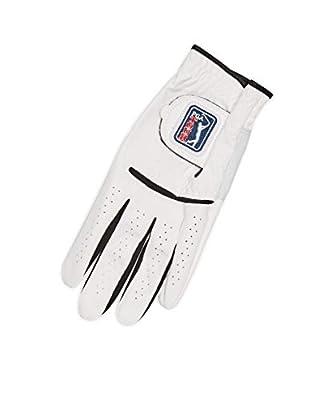 PGA TOUR Men's G3 Powergrip Synthetic Golf Glove, White, Worn On Left, X Large