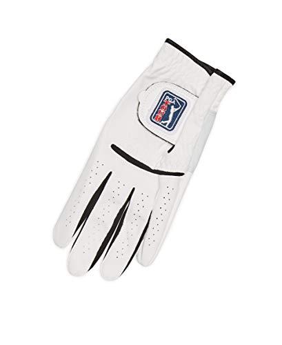 PGA Synthetic Glove Guantes sintéticos, Blanco brillante, large para Hombre
