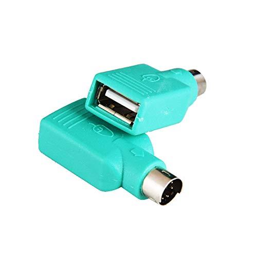 Adaptador PS/2, PS2 macho a USB hembra, adaptador convertidor para teclado y...