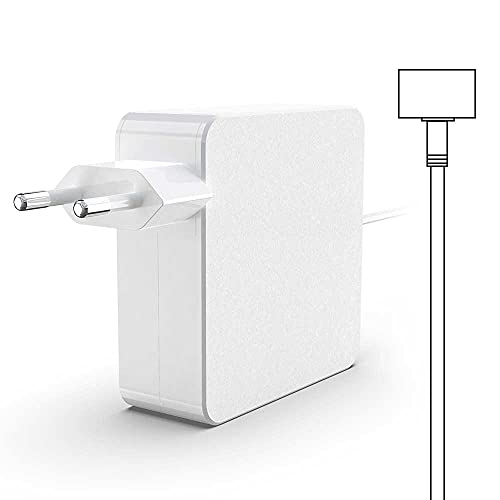 Rocketek Reemplazo para Mac Book Pro Charger 60W T-Tip Magnetic Connector 2 Adaptador de corriente, compatible con Mac Book Pro de 13 pulgadas y Mac Book Air (después de mediados de 2012)