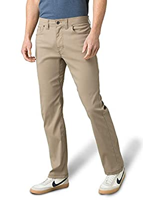 """prAna - Men's Brion Lightweight, Breathable, Wrinkle-Resistant Stretch Pants for Hiking and Everyday Wear, 32"""" Inseam, Dark Khaki, 30"""