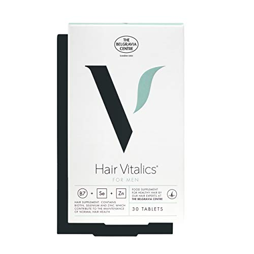 Hair Vitalics for Men (1 Month) - Hair Growth Supplement from The Belgravia Centre - The UK's Leading Hair Loss Clinic | Containing Saw Palmetto, Biotin, Zinc, Selenium and More