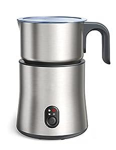 Espumador de leche, automático de 500ml de acero inoxidable 4en1, con espuma de leche caliente y fría, chocolate caliente, recipiente de leche inalámbrico, apto para lavavajillas