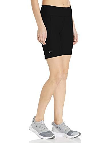 Under Armour Women's HeatGear Armour Bike Shorts , Black (001)/Metallic Silver , X-Large