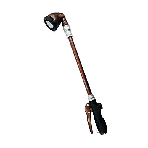 Wasser Vela Garden Telescoping 25-36 Inches 6-Pattern Water Wand, Pistol Hose Nozzle, Front Trigger Sprayer, Soft Grip
