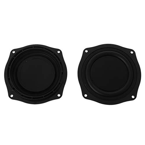 Xuniu Bass Vibrationsmembran 4 Zoll Lautsprecher Gummi Lautsprecher Vibrationsplatte Membran Passive Woofer Tragbare hausgemachte DIY 2 STÜCKE