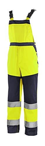 teXXor 4336-54 Warnschutz-Latzhose Buffalo, Warngelb/marineblau, Größe 54