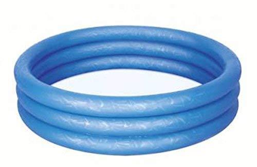 Bestway Planschbecken Kinderpool Pool 3-Ring Embossing (122 x 122 x 25 cm (Blau))