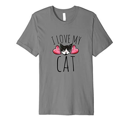 I love my cat t-shirt cute kitty cats tshirts tuxedo cat tee