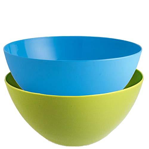 Kuber Industries Plastic 2 Pieces Mixing Bowl Set- 1350 ML (Multi)