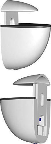 Element System Regalbodenträger Midi, 2 Stück, Glas-Holzbodenträger, weiß, 5 Farben, 11051-00000