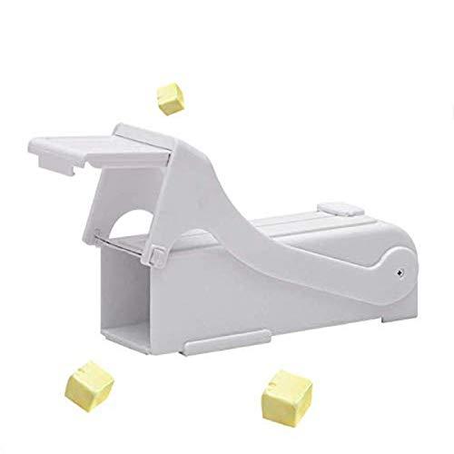 Choppan Dispensador de mantequilla, cortador de mantequilla, cortador de mantequilla, color blanco