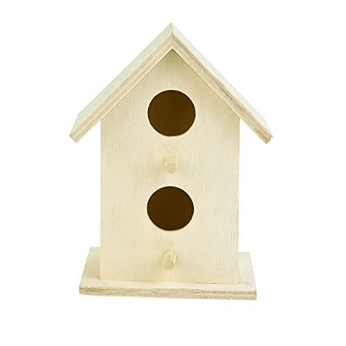SCDCWW Nido de Madera Nest Casa Bird House Box Box Hand Woven Woven Birdhouses Casa de Aves de Madera Creativa con Cuerda Colgante Inicio