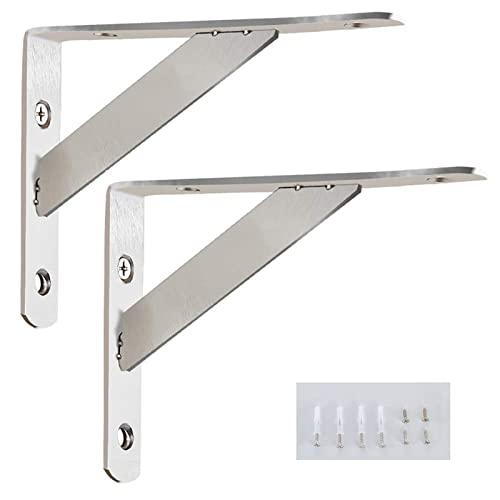 Escuadras De Metal Soporte Triangular - 2 Piezas - Soporte para EstanteríAs - Acero Inoxidable - Soporte de Pared(Incluye Tornillos De Montaje (Size : 300mm)