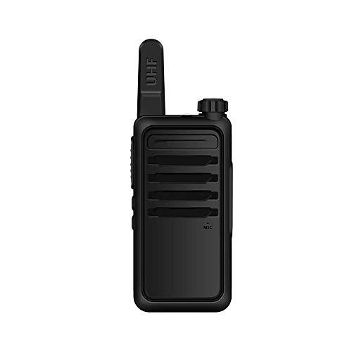 Z-Color Mini walkie Talkie 5W Recargable USB walkie Talkie 16 Canales, 1500mAh de Gran Capacidad inalámbrica de Larga Distancia walkie Talkie (Negro) (2 Piezas)