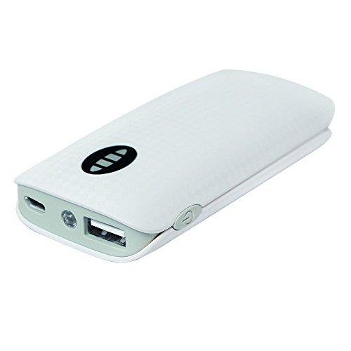 LogiLink PA0126 Mobiler Zusatzakku (4000 mAh) weiß/grau