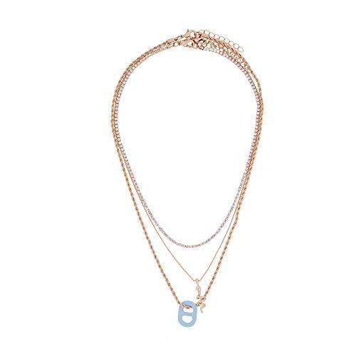 Parfois - Conjunto De Collares Combinados con Colgantes - Mujeres - Tallas Única - Multicor Pastel